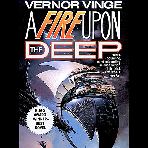 A Fire Upon the Deep audiobook cover art