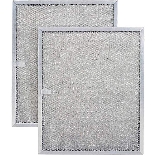 Aluminum Replacement Range Filter Compatible With Kitchenaid 4168901- Dimensions: 8-5/8 x 11 x 3/8 PTLS - 2 Pack