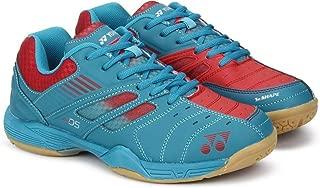 Yonex Junior Non Marking Badminton Shoes, Blue/Bright Red