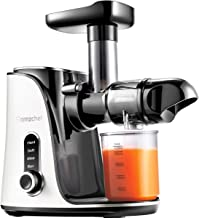 Juicer Machines,AMZCHEF Slow Masticating Juicer Extractor, Cold Press Juicer with Two Speed Modes, 2 Travel bottles(500ML),LED display, Easy to Clean Brush & Quiet Motor for Vegetables&Fruits
