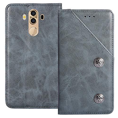 YLYT Flip Blue Schutz Hülle Hülle Für M-Horse Pure 3 5.7 inch Etui Leder Tasche Handyhülle Hochwertiges Stoßfeste Kartenfach Cover