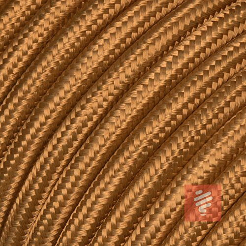 Textilkabel für Lampe, Stoffkabel, 3-adrig (3x0,75mm²), Whiskey (Hellbraun) - Meterware, Preis pro Meter