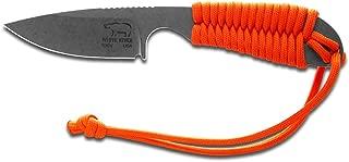 White River Knife & Tool Backpacker Hunting Knife Orange Paracord Handle WRBP-OR