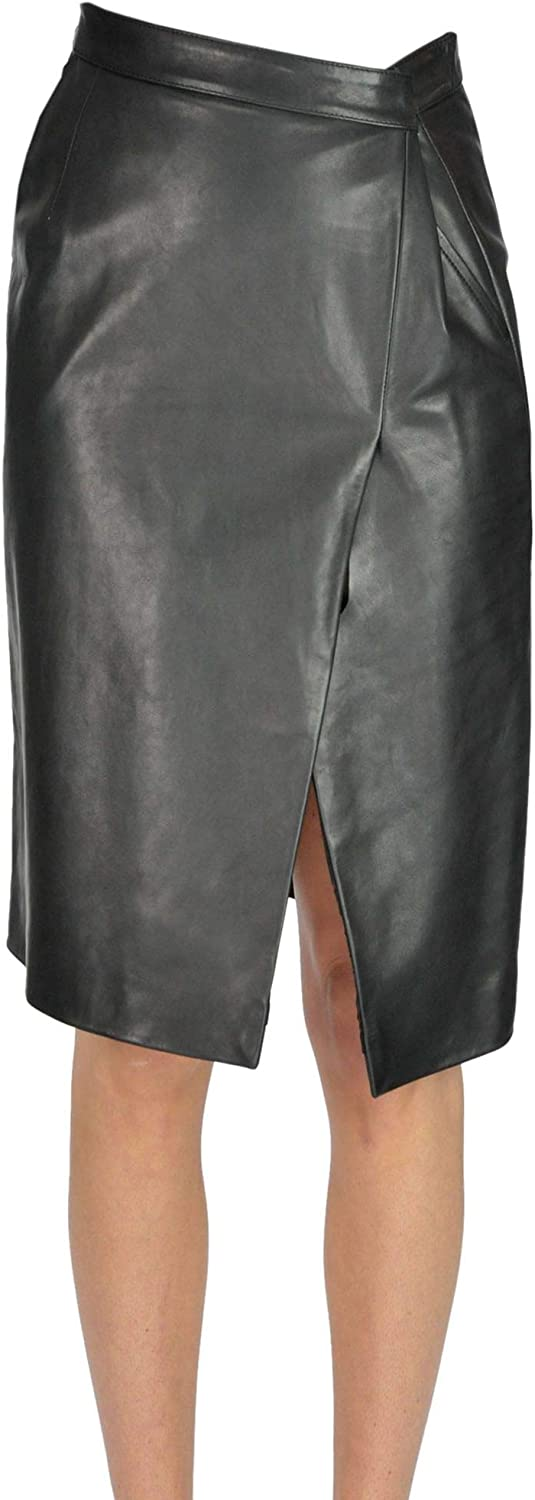 VETEMENTS Damen MCGLGNN000006045I Schwarz Leder Rock