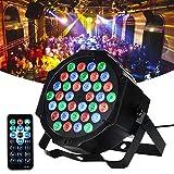 36 LED 1w Foco Par luces, Lunsy RGB Colorido 7 modos de iluminación Iluminación de escenario Control remoto flexible Control DMX
