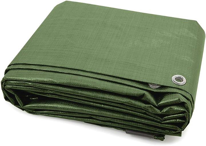 Telone occhiellato impermeabile jarolift 6 x 8 m telo multiuso in polietilene 140 g/m2 / verde B00F8D9LZ4