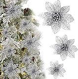 KBNIAN 24 Piezas Flores Estrella de Navidad Poinsettia