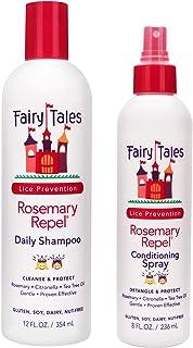 Fairy Tales Rosemary Repel Daily Kids Shampoo- Lice Shampoo for Kids (12 Fl Oz) & Conditioning Lice Spray (8 Fl Oz) Duo fo...