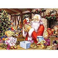 5DDIYダイヤモンド絵画「クリスマスオールドマン」デコレーションホーム写真ラインストーンダイヤモンド刺繡40x50cm