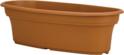 Akro Mils PAP2000E22 Panterra Oval Planter, Clay Color, 20-Inch Length