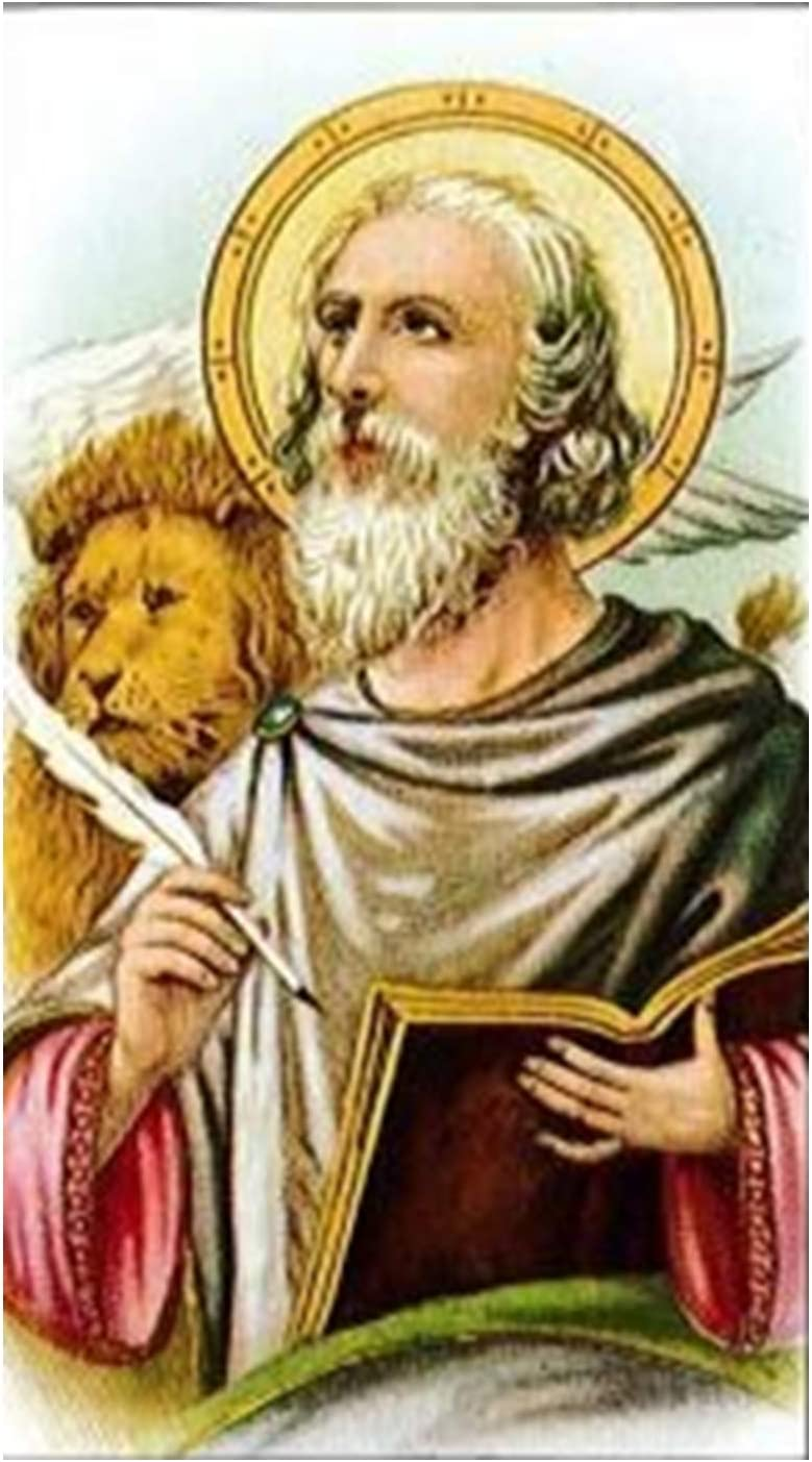 Saint Mark The Evangelist Blessed Card Italian Laminated Memphis Max 46% OFF Mall Holy