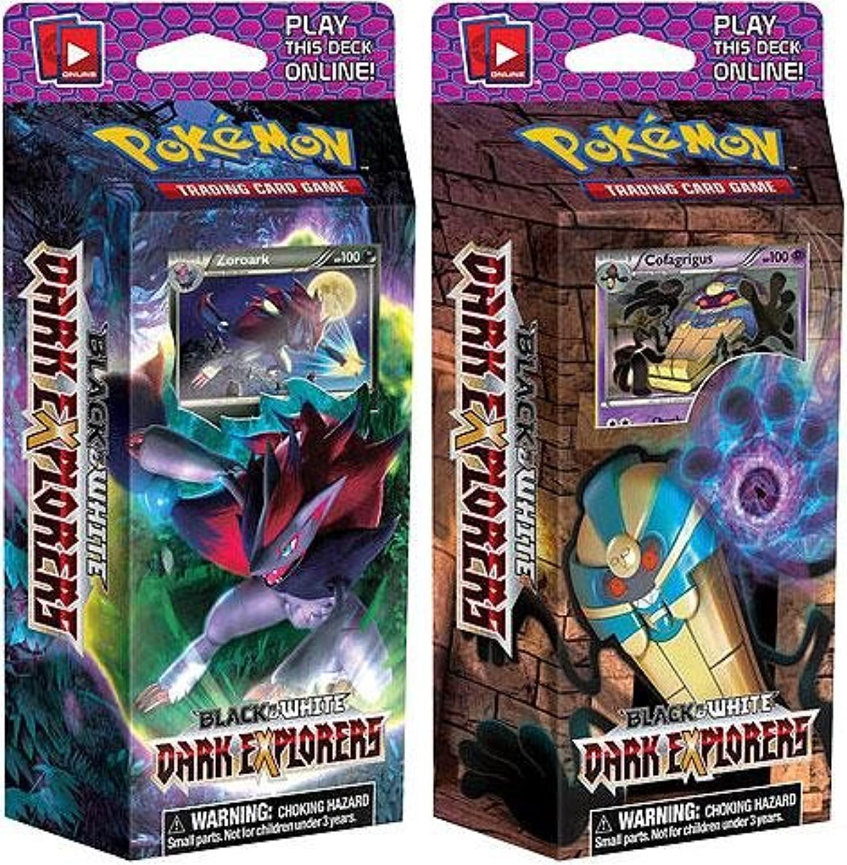 Karten Pokemon–BW dunkelblau Entdecker–Thema Spiele–Lot de 2(Raiders & Schatten)