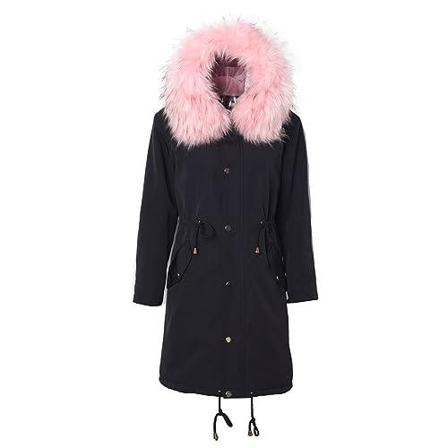 75f644adb0f1c VILIERING Women s Hooded Coat Parka Plus Size Big Fur Collar Hooded Women s  Snow Parka Coat Jacket