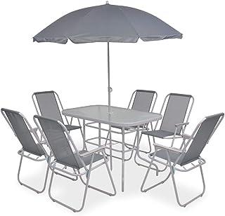 Amazon.es: mesas y sillas de jardín con sombrilla: Jardín