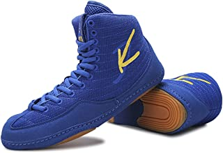 WJFGGXHK Men's Boxing Shoes, Durable Wrestling Sneaker High Top Weightlifting Training Shoes Boxers Sneaker for Wrestlers