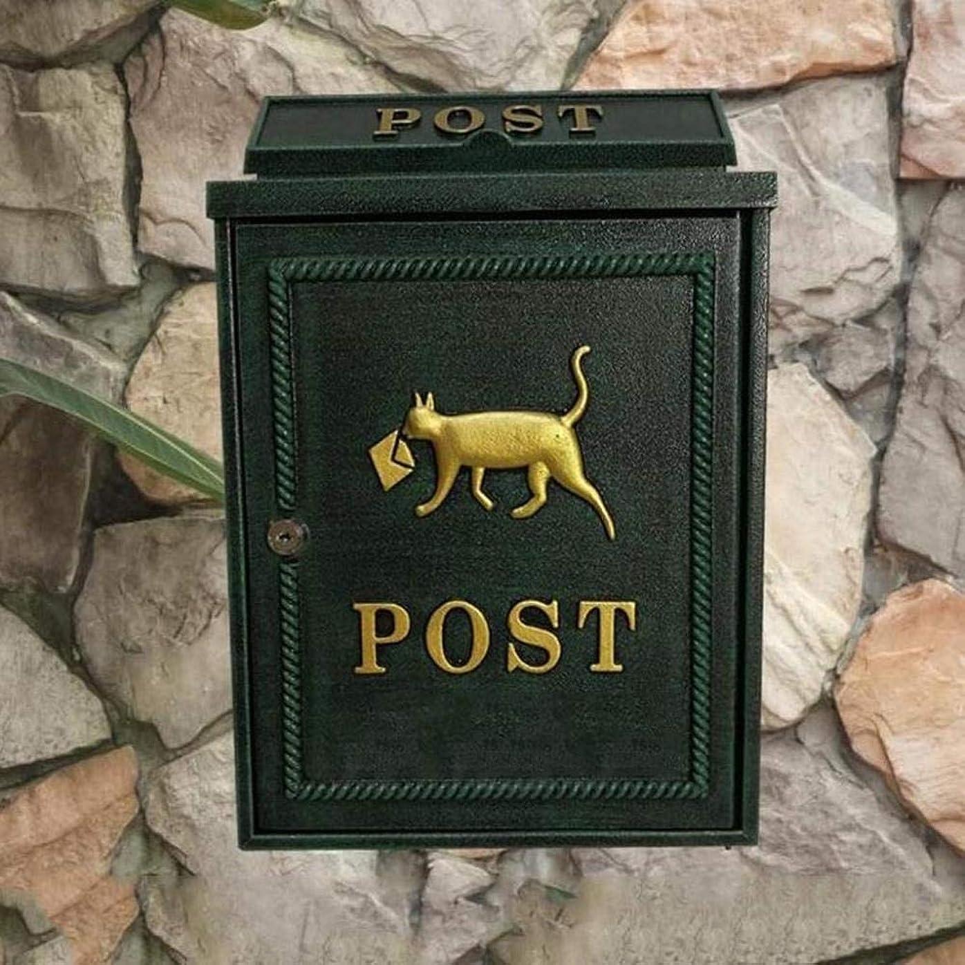 征服時制ブレースメールボックスのメールボックスのコミュニティレターボックスメールボックスヴィラメールボックスの受信トレイのメールボックスをウォールマウント (Color : B)