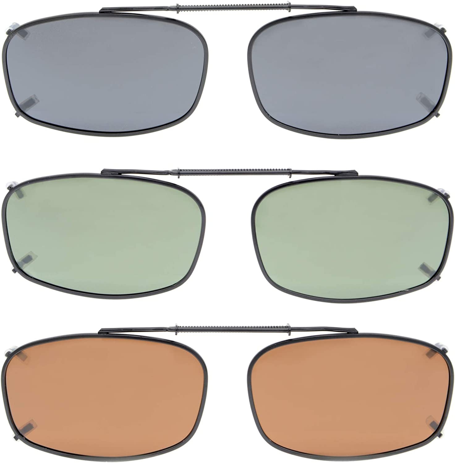 Eyekepper Metal Frame Rim Polarized Lens Clip 1 On All stores are sold Sunglasses 2 famous