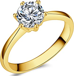 Jude Jewelers 1.0 Carat Classical Stainless Steel...