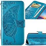 Saceebe Compatible avec Xiaomi Mi A2 Lite Housse Portefeuille en Cuir Coque Papillon...