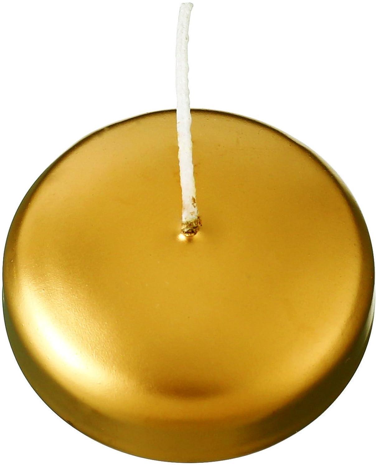十一申請者ポスターカメヤマキャンドルハウス フローティングキャンドル50 ゴールド 12個セット