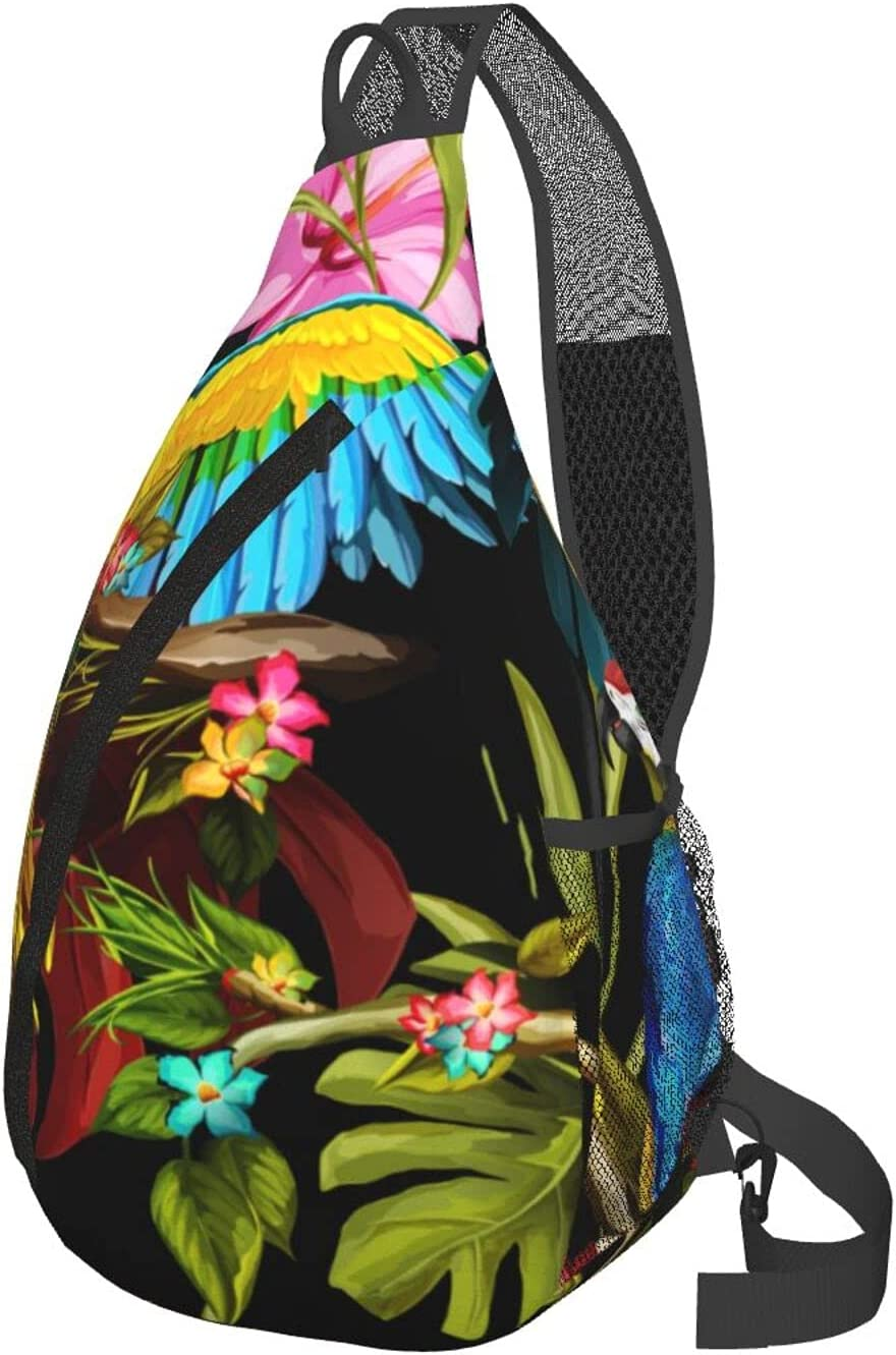 sale Wozukia Parrots Travel Hiking Chest Tropical low-pricing Daypack The Bag On