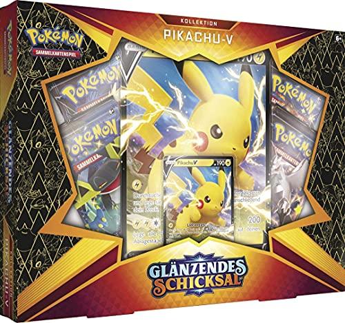 Arkero-G Pokemon Glänzendes Schicksal Pikachu-V Kollektion Box | DEUTSCH | inklusive 10 Standard Soft Card Sleeves
