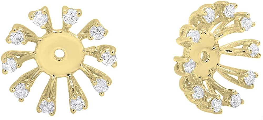 Dazzlingrock Collection 0.30 Carat (ctw) Round Diamond Removable Jackets For Stud Earrings 1/3 CT