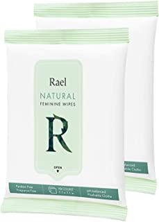 Rael Feminine Wipes With Natural Ingredients, Use Day Or Night, Flushable, Ph-Balanced, Gentle & Safe On The Skin. 2 Pack