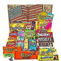 🍫 BONHEUR EN BOÎTE! - Envie d'un supplément d'énergie grâce au sucre de délicieuses confiseries? Notre boite de bonbons et de chocolats vous apporte la dopamine et le plaisir en une seule boite. 🍫 COFFRET DES USA - Nous n'offrons pas que de simples f...