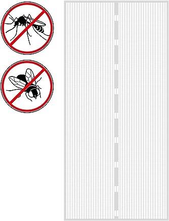 35x91inch 90x230cm Fliegengitter Balkont/ür Insektenschutz Glasfasermaterial f/ür Balkont/ür Wohnzimmer Terrassent/ür Schwarz THAIKER Magnet Fliegengitter T/ür