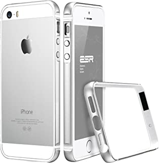 ESR Case for iPhone SE, iPhone SE Metal Bumper [Bumper Only No Back Plate] Metal Frame/Bumper for iPhone 5 / 5s / SE Fluencia Series [Shock Absorbent] (Silver)