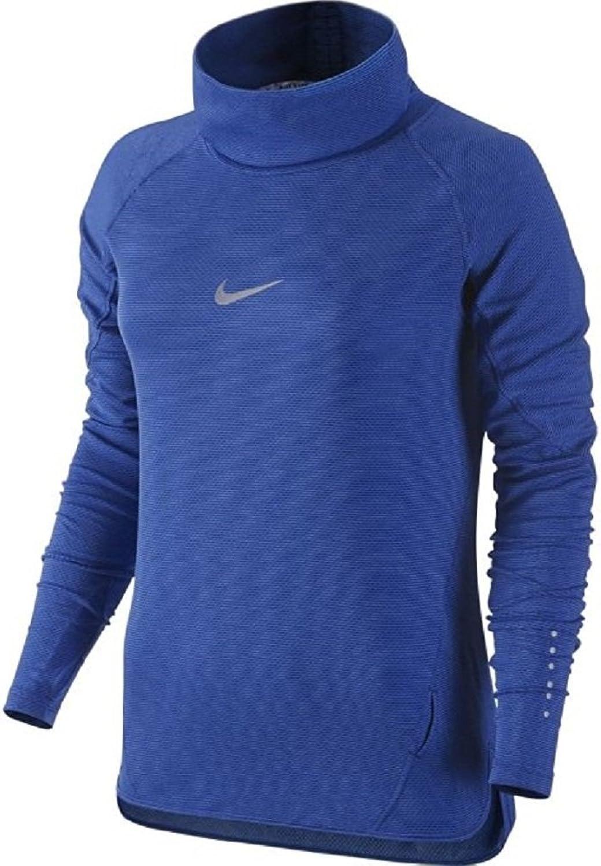 NIKE Womens DriFit AeroReact Cowl Running Shirt Royal bluee 686955455