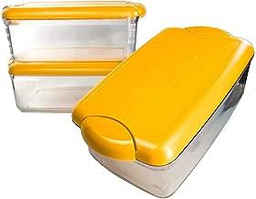 Pote Herméticos Cozinha C/tampa Amarelo Mostarda
