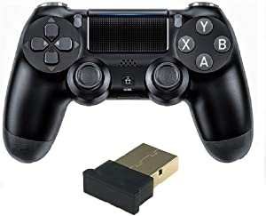 TUODING PC Controller 2.4G Wireless Gaming Controller Gamepad for PC/Laptop Computer(Windows XP/7/8/10) & PS3 & Android TV& Steam Dual-Vibration Joystick Gamepad