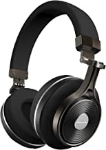 Bluedio T3 Extra Bass Bluetooth Headphones On Ear with Mic, 57mm Driver Folding Wireless Headset, Wired and Wireless Headphones for Cell Phone/TV/PC Gift (Black)