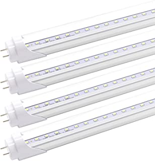 T8 T10 T12 2FT LED Light Tube - 15W 36 Inch Led Fluorescent Tube Replacement, 32W Equivalent, 1650 Lm, 6500K Cool White, B...
