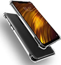 iCoverCase Compatible with Xiaomi Pocophone F1 Case, Crystal Clear Soft TPU Shock Absorption Bumper Slim Thin Cover Case -...