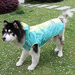 KUANDARMX Dog Raincoat Adjustable Lightweight Jacket The best gift for dog cloak dog raincoat with reflective strip waterproof pet cloak large and small puppies