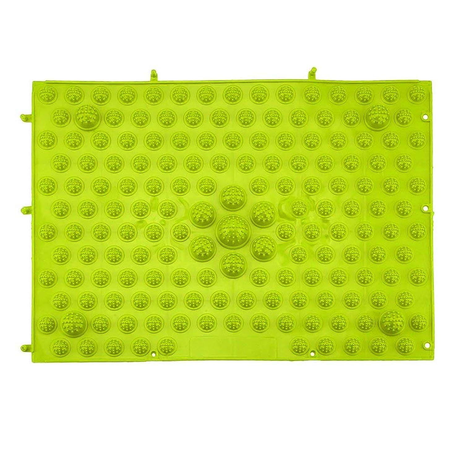 ゴシップビルマ我慢する指圧フットマットランニングマンゲーム同型フットリフレクソロジーウォーキングマッサージマット用痛み緩和ストレス緩和37x27.5cm - グリーン