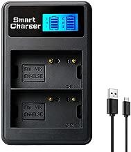 EN-EL3e LCD Dual Battery Charger for Nikon EN-EL3e, ENEL3E, EN-EL3a, EN-EL3, MH-18, MH-18a and Nikon D50, D70, D70s, D80, D90, D100, D200, D300, D300S, D700 Cameras