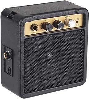 Mini Altavoz de 5 W Volumen Eléctrico Sintonizador Amplificador Ajustable Entrada de Guitarra Salida de Auriculares Altavoz de Audio Portátil Negro con Correa