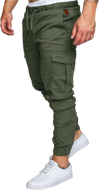 XUETON Mens Fashion Joggers Cargo Pants Athletic Sweatpants Slim Fit Casual Pants Long-Pants for Men
