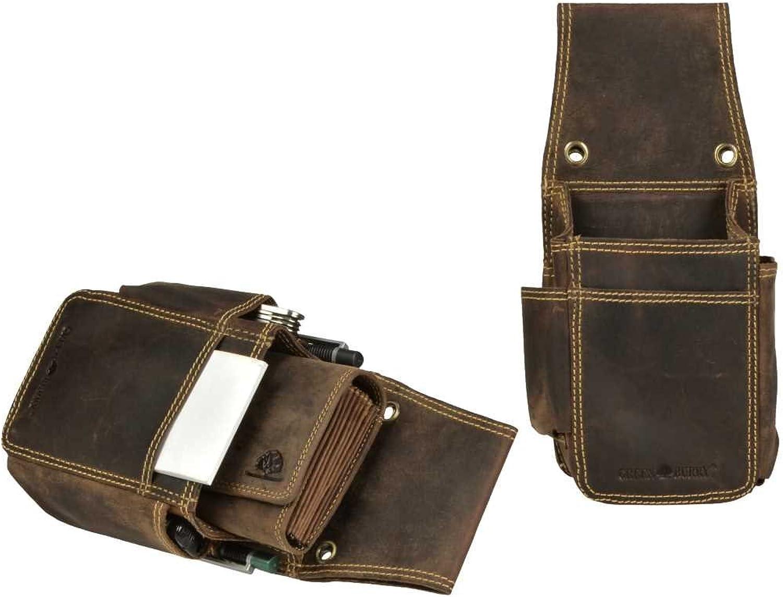 Profikellnerset Grünburry Kellnergeldbörse Kellnerbörse Extra Extra Extra Strong Leder Doppelt genäht in Vintage antikbraun inkl. Lederpflegeset B07FPR9G96 12230b