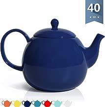 Sweese 220.103 Porcelain Teapot, 40 Ounce Tea Pot - Large Enough for 5 Cups, Navy