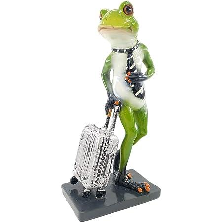 Green Frog Standing Statue Figurine Sculpture Home Table Top Desk Decor Gift