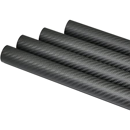 1 Piece Abester 3K Matt Surface Carbon Fiber Tube ID 21mm x OD 23mm x 1000mm Roll Wrapped