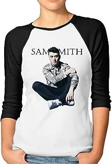 Ladies Sam Smith béisbol Athletic 3/4 Camiseta de manga camiseta