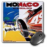 3drose LLC 8x 8x 0.25インチヴィンテージモナコ自動車レース広告ポスターマウスパッド(MP 130224_ 1)