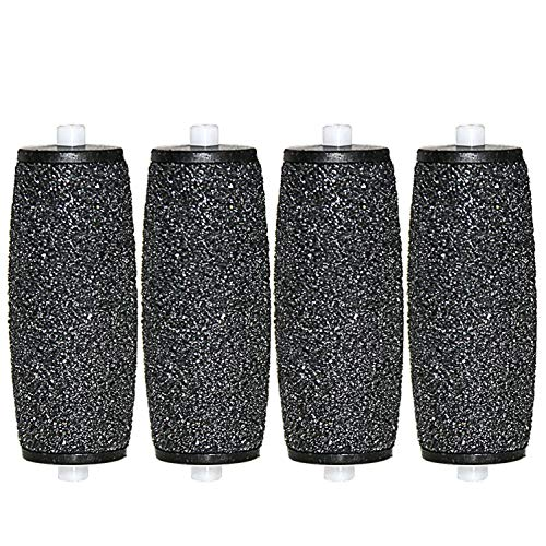 [Set de 4] Canwn Extrarugosos Rodillos Lijadores para Recambio de Scholl Velvet Smooth Diamond Crystals/Lima Electrónica Velvet Smooth Wet&Dry