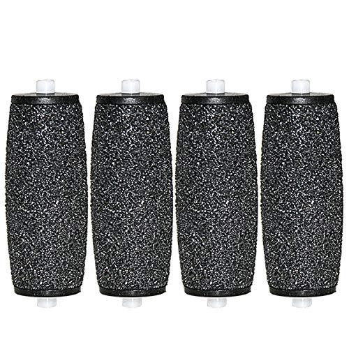 [4 Stück] Canwn Extra Grob Mineral Ersatzrollen für Scholl Velvet Smooth Hornhautentferner Nachfüll-Rollen mit Diamantpartikeln